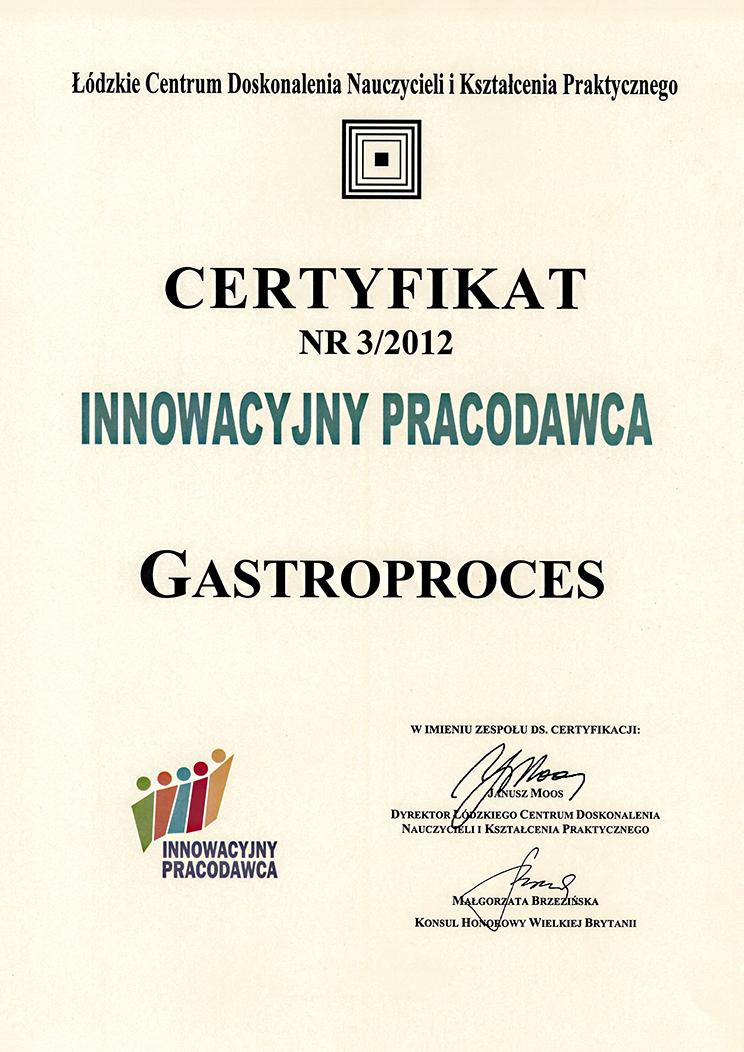 Certyfikat innowacyjny pracodawca