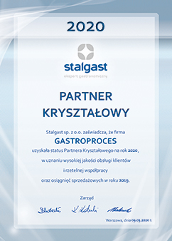 Dyplom - Partner Kryształowy 2020